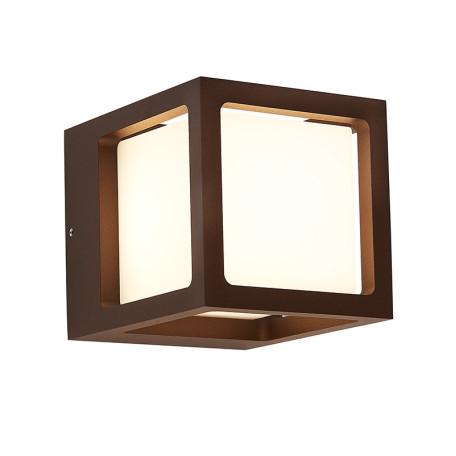 Настенный светодиодный светильник L'Arte Luce Zor L80181.44, IP54 3000K (теплый), коричневый, белый, металл, пластик - миниатюра 2