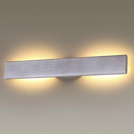 Настенный светодиодный светильник Odeon Light Woody 3869/8LA, LED 8W, 3000K (теплый), серый, металл
