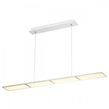 Подвесной светодиодный светильник Odeon Light Super Slim 3870/60L, LED 60W, 3000K (теплый), белый, металл, пластик