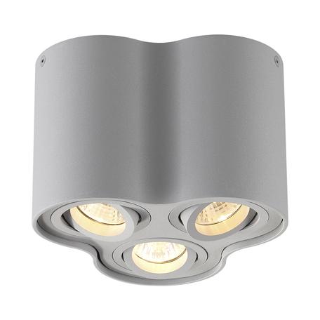 Потолочный светильник Odeon Light Pillaron 3831/3C, 3xGU10x50W, серый, металл