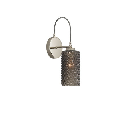 Бра Reccagni Angelo A 10000/1, 1xE27x60W, серебро, дымчатый, металл, стекло
