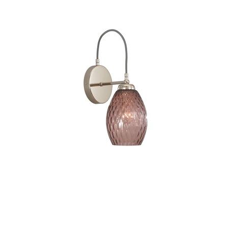 Бра Reccagni Angelo A 10008/1, 1xE27x60W, серебро, фиолетовый, металл, стекло