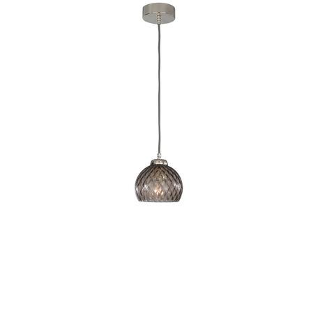 Подвесной светильник Reccagni Angelo L 10003/1, 1xE27x60W, серебро, дымчатый, металл, стекло