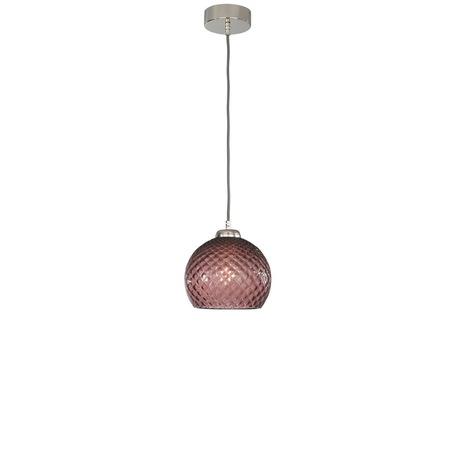 Подвесной светильник Reccagni Angelo L 10005/1, 1xE27x60W, серебро, фиолетовый, металл, стекло