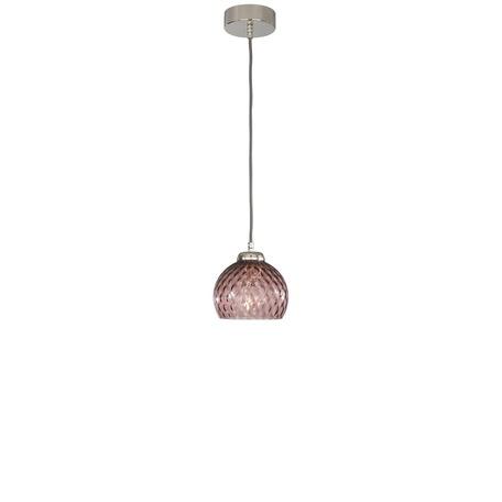 Подвесной светильник Reccagni Angelo L 10006/1, 1xE27x60W, серебро, фиолетовый, металл, стекло