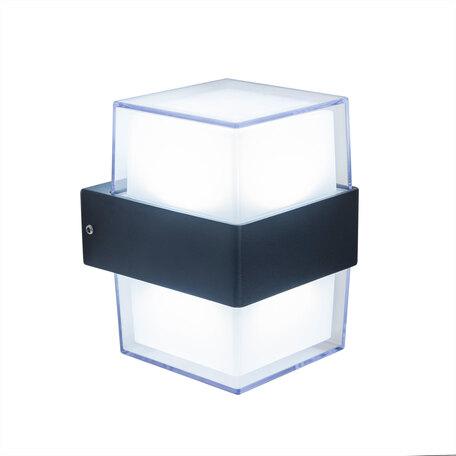 Настенный светодиодный светильник Citilux CLU0009K, IP54, LED 12W 4000K 1000lm, черный, белый, металл, пластик