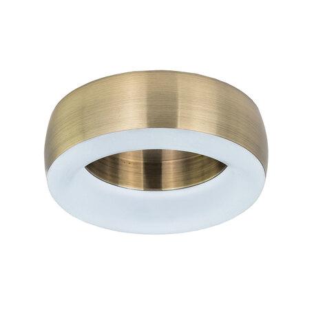 Встраиваемый светодиодный светильник Citilux Болла CLD007N3, LED 9W, 4000K (дневной), белый, бронза, металл, пластик