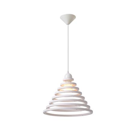 Подвесной светильник Lucide Tora 08404/35/31, 1xE27x24W, белый, металл, дерево