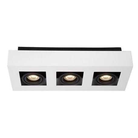 Потолочный светильник Lucide Xirax 09119/15/31, 3xGU10x5W, белый, черный, металл