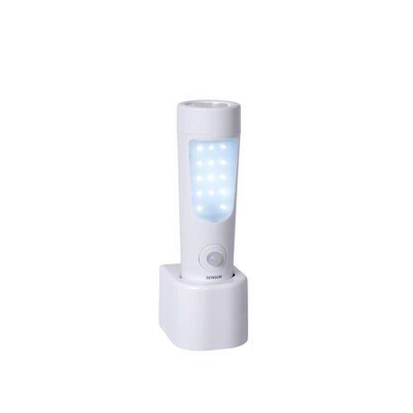 Штекерный светодиодный светильник-ночник Lucide Bo-LED 11200/02/31, LED 2W 6500K (холодный), белый, прозрачный, пластик
