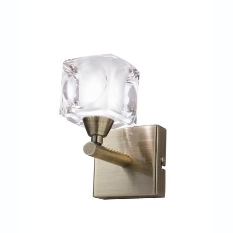 Бра Mantra Cuadrax 0992, бронза, металл, стекло