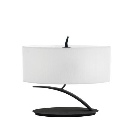 Настольная лампа Mantra Eve 1158, серый, бежевый, металл, стекло, текстиль