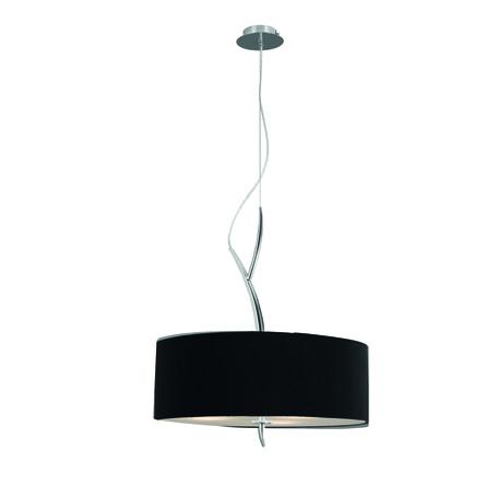 Подвесной светильник Mantra Eve 1173, хром, черный, металл, стекло, текстиль