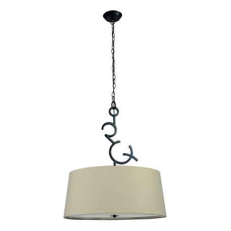 Подвесной светильник Mantra Argi 5213, коричневый, бежевый, белый, металл, пластик, текстиль