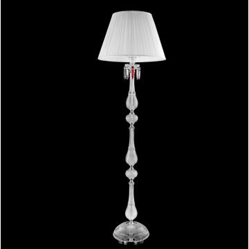 Торшер Crystal Lux PRINCESS PT3 2760/603, 3xE14x60W, хром, прозрачный, белый, красный, хрусталь, текстиль