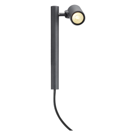 Светодиодный светильник с регулировкой направления света для крепления на основание SLV HELIA LED 1 233275, IP55, LED 3000K, серый, металл