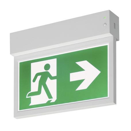 Светодиодный светильник-указатель SLV P-LIGHT 27 CW 240000, LED 6000K, белый, зеленый, пластик