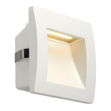 Встраиваемый настенный светодиодный светильник SLV DOWNUNDER OUT S 233601, IP55, LED 3000K, белый, металл