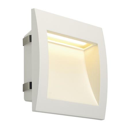 Встраиваемый настенный светодиодный светильник SLV DOWNUNDER OUT L 233611, IP55, LED 3000K, белый, металл