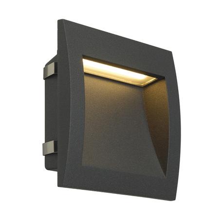 Встраиваемый настенный светодиодный светильник SLV DOWNUNDER OUT L 233615, IP55, LED 3000K, серый, металл