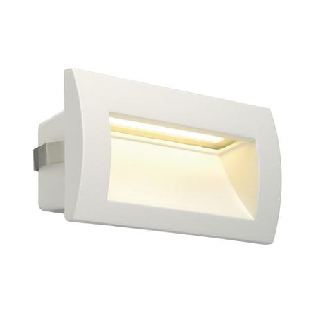 Встраиваемый настенный светодиодный светильник SLV DOWNUNDER OUT M 233621, IP55, LED 3000K, белый, металл