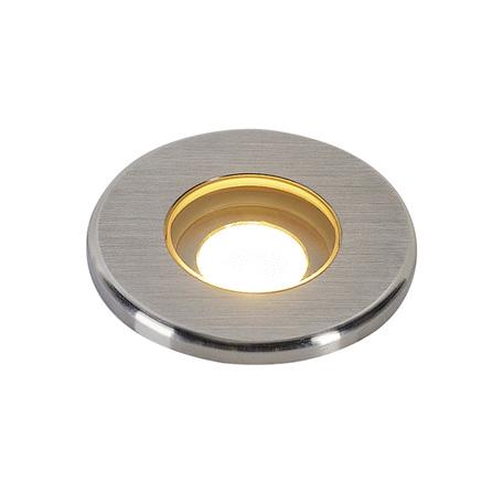 Встраиваемый в уличное покрытие светодиодный светильник SLV DASAR® 37 ROUND 233540, IP67, LED 3000K, сталь, металл