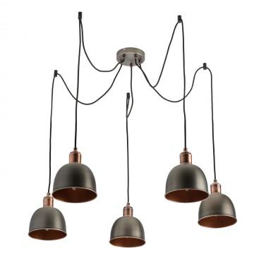 Люстра-паук MW-Light Вальтер 551011205, коричневый, медь, серебро, металл