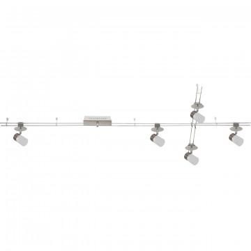Рельсовая система освещения De Markt 550011505, LED 20W 3000K 1600lm, никель, белый, металл, пластик