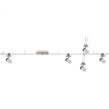 Рельсовая система освещения De Markt Трек-система 550011505, LED 20W 3000K (теплый) 1600lm, никель, хром, белый, металл, пластик