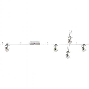 Рельсовая система освещения De Markt Трек-система 550011605, LED 20W 3000K (теплый) 1600lm, никель, хром, металл, пластик