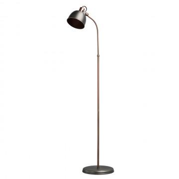 Торшер MW-Light Вальтер 551041401, коричневый, медь, серебро, металл