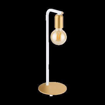 Настольная лампа Eglo Adri 2 96926, 1xE27x12W, белый, золото, металл