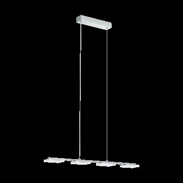 Подвесной светодиодный светильник Eglo Cartama 1 96524, хром, белый, прозрачный, металл, пластик