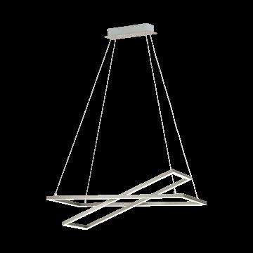 Подвесной светодиодный светильник Eglo Tamasera 96815, LED 25W 3000K 4300lm, никель, металл, металл с пластиком, пластик