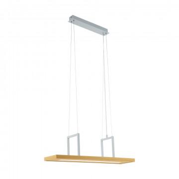 Подвесной светодиодный светильник с полкой Eglo Tondela 96959, LED 13,6W 3000K 1080lm, белый, коричневый, металл, дерево, пластик