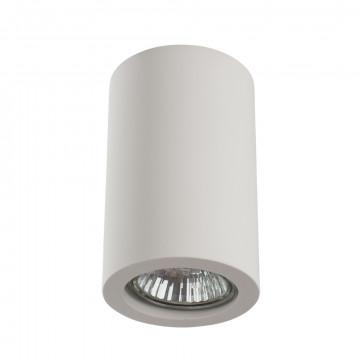 Потолочный светильник Arte Lamp Instyle Tubo A9260PL-1WH, 1xGU10x35W, белый, под покраску, гипс