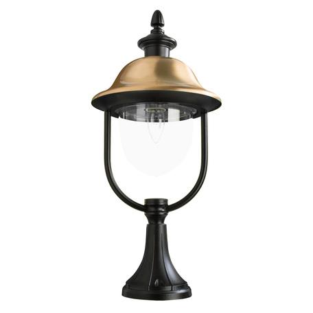 Садово-парковый светильник Arte Lamp Barcelona A1484FN-1BK, IP44, 1xE27x75W, черный, медь, прозрачный, металл, металл с пластиком