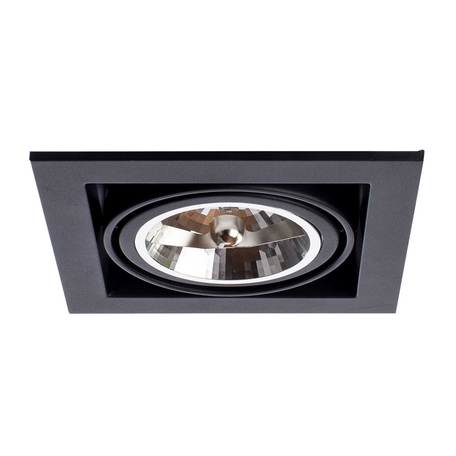 Встраиваемый светильник Arte Lamp Cardani Grande A5935PL-1BK, 1xG53AR111x50W, черный, металл