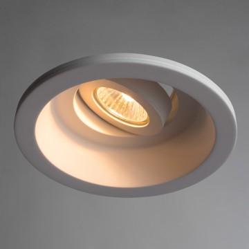 Встраиваемый светильник Arte Lamp Instyle Invisible A9215PL-1WH, 1xGU10x35W, белый, под покраску, гипс