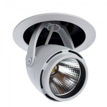 Встраиваемый светодиодный светильник с регулировкой направления света Arte Lamp Instyle Natale A3120PL-1WH, белый, металл