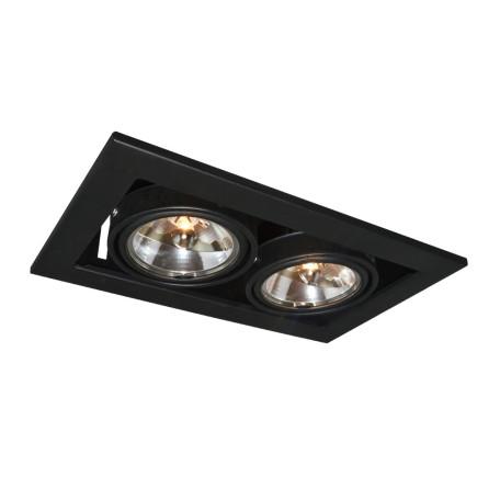 Встраиваемый светильник Arte Lamp Instyle Cardani Medio A5930PL-2BK, 2xG53AR111x50W, черный, металл