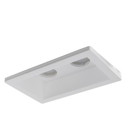Встраиваемый светильник Arte Lamp Instyle Invisible A9214PL-2WH, 2xGU10x35W, белый, под покраску, гипс