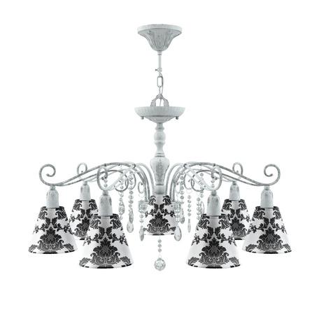 Светильник Maytoni Provence 15 E4-07-G-LMP-O-2-CRL-E4-07-TR-DN, 7xE14x40W, серый, черный с белым, прозрачный, металл, текстиль, стекло