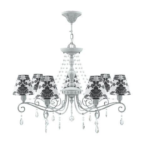 Светильник Maytoni Provence 15 E4-07-G-LMP-O-2-CRL-E4-07-TR-UP, 7xE14x40W, серый, черный с белым, прозрачный, металл, текстиль, стекло