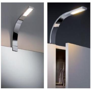 Мебельный светодиодный светильник Paulmann Galeria Bow 99380, LED 3,2W, хром, металл, металл с пластиком