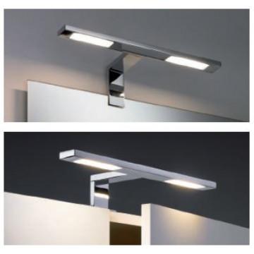 Мебельный светодиодный светильник Paulmann Galeria Double Hook 99385, IP44, LED 6,4W, хром, металл