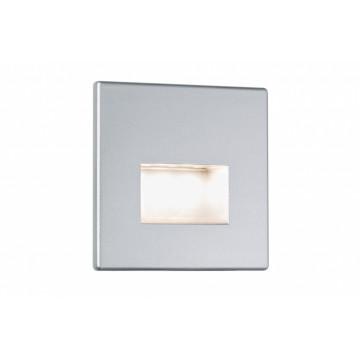 Встраиваемый настенный светодиодный светильник Paulmann Wall LED Edge 99495, LED 1,1W, матовый хром, пластик