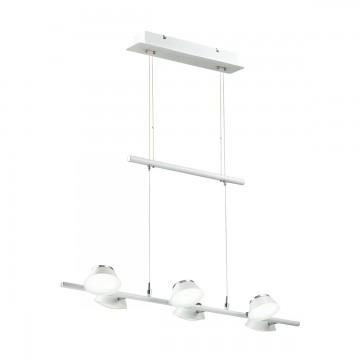 Подвесная люстра с регулировкой направления света Lumion 3746/30L, белый, хром, металл, пластик