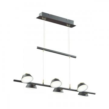 Подвесная люстра с регулировкой направления света Lumion 3747/30L, черный, золото, металл, пластик
