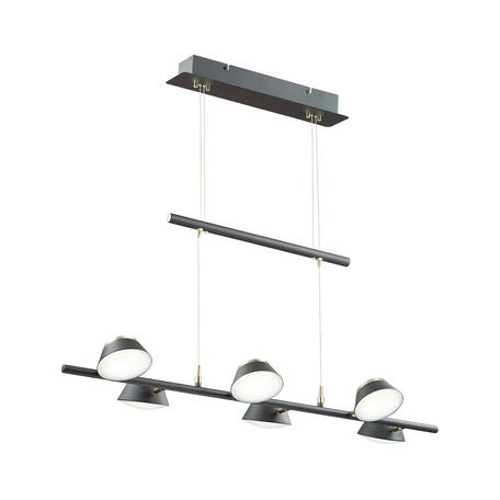 Подвесная люстра с регулировкой направления света Lumion Jill 3747/30L, черный, черный с золотом, пластик